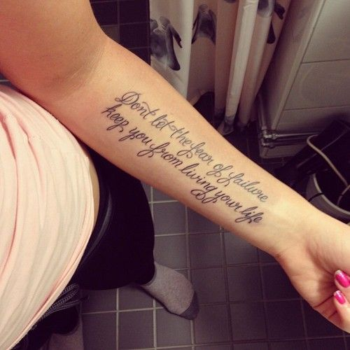 Forearm Quote Tattoos Designs, Ideas and Meaning | Tattoos ...
