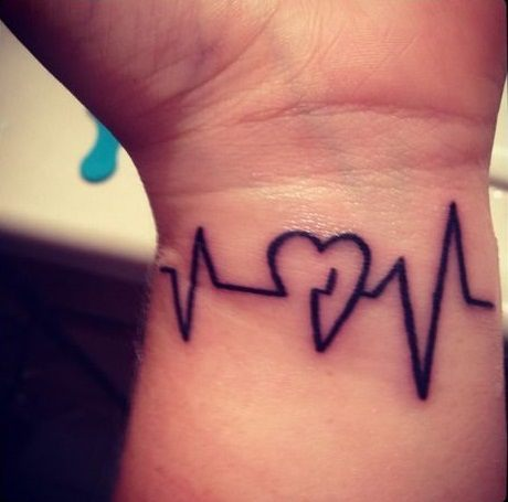 heartbeat wrist tattoo designs ideas and meaning