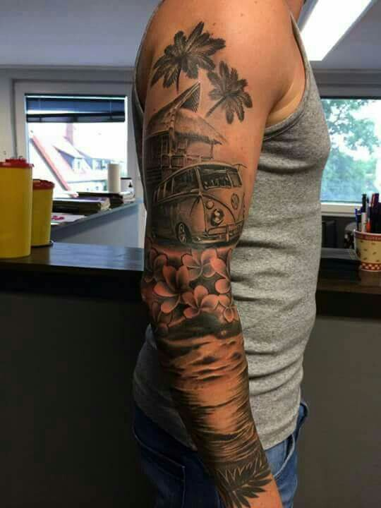 beach sleeve tattoo designs ideas and meaning tattoos for you. Black Bedroom Furniture Sets. Home Design Ideas