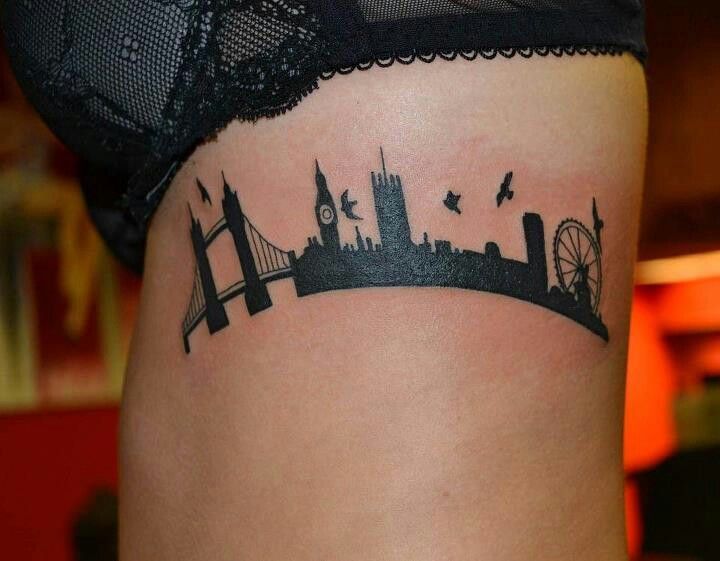Line Drawing Tattoos London : Skyline tattoo designs ideas and meaning tattoos for you