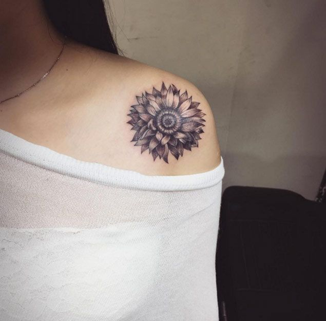 Tattoo Designs Shoulder: Sunflower Shoulder Tattoo Designs, Ideas And Meaning