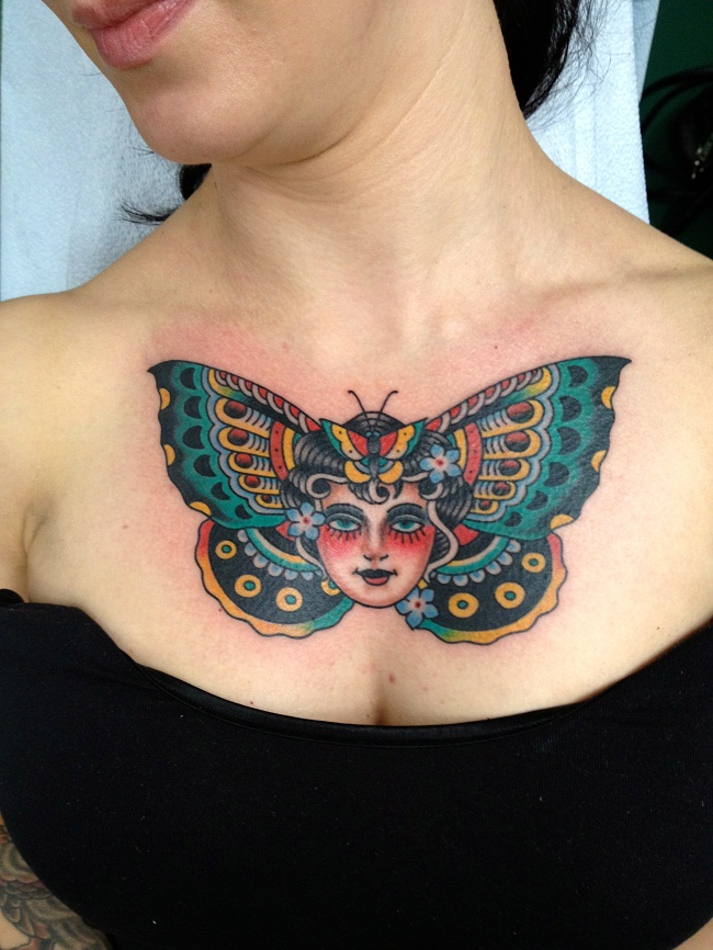 Chest tattoos girls designs ideas and meaning tattoos for Chest tattoos for women designs