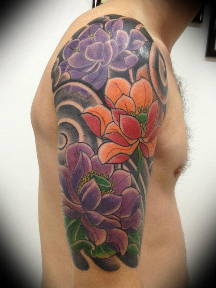 Flower Tattoo Men Designs Ideas and Meaning Tattoos For You