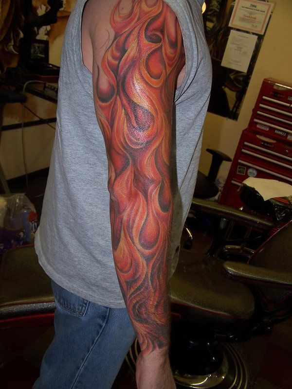 Tribal sleeve tattoos designs ideas and meaning tattoos for Tribal flames tattoo