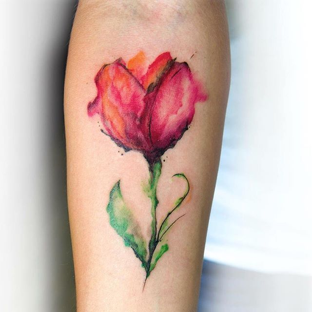 watercolor flower tattoo designs ideas and meaning tattoos for you. Black Bedroom Furniture Sets. Home Design Ideas