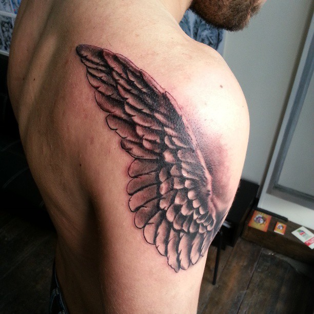 Wing Tattoo On Shoulder Designs Ideas And Meaning Tattoos For You
