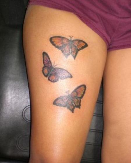 Leg Thigh Tattoo Designs