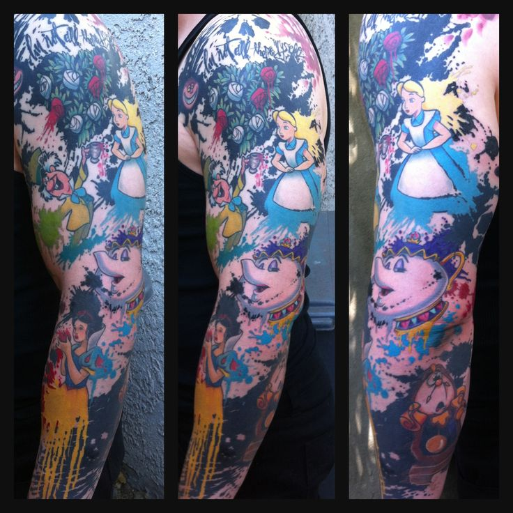 54b0cf6608ea8 Disney Tattoo Sleeve Designs, Ideas and Meaning | Tattoos For You