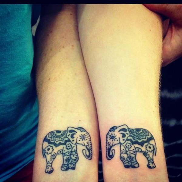Elephant wrist tattoo designs ideas and meaning tattoos for Back of wrist tattoo
