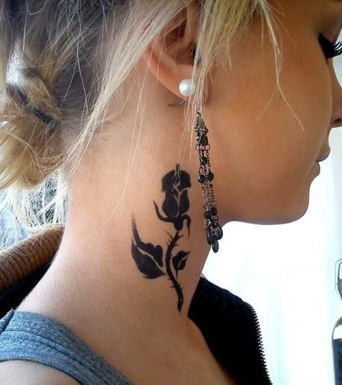 Girl Neck Tattoos Designs Ideas And Meaning Tattoos For You