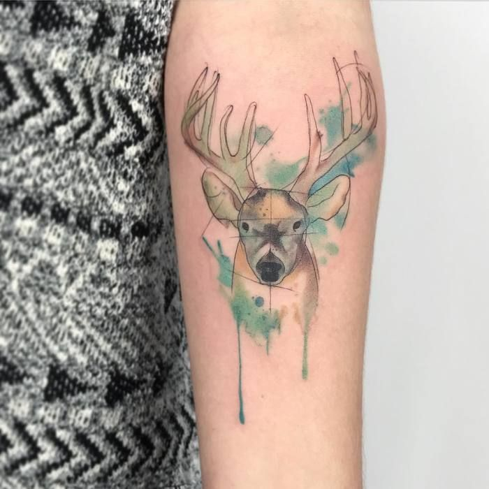 watercolor deer designs ideas and meaning