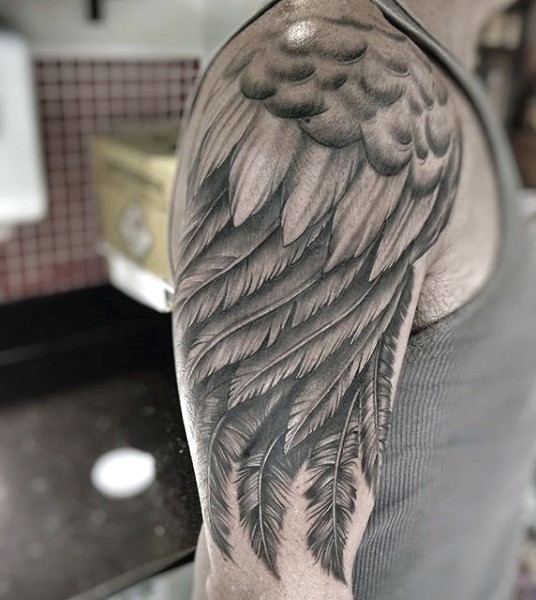 Wing Tattoo Shoulder Blades Wing Tattoo On ...