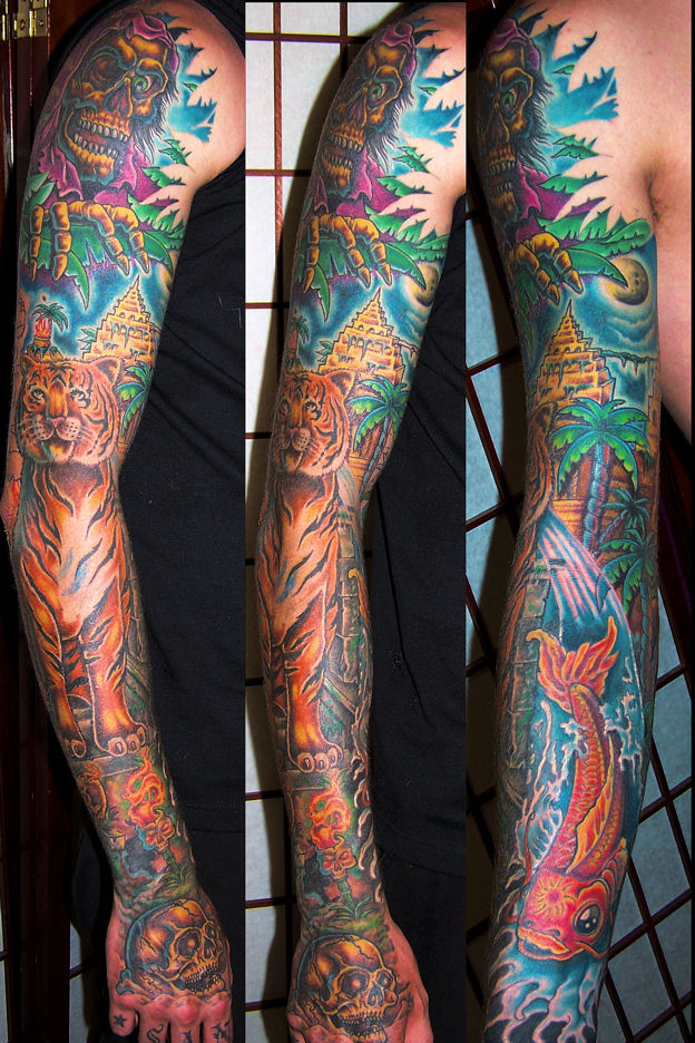 jungle tattoo sleeve tattoos theme designs arm mexican sleeves animals tatuajes geometric tattoomagz jungles meaning everytattoo feminine artists letras para