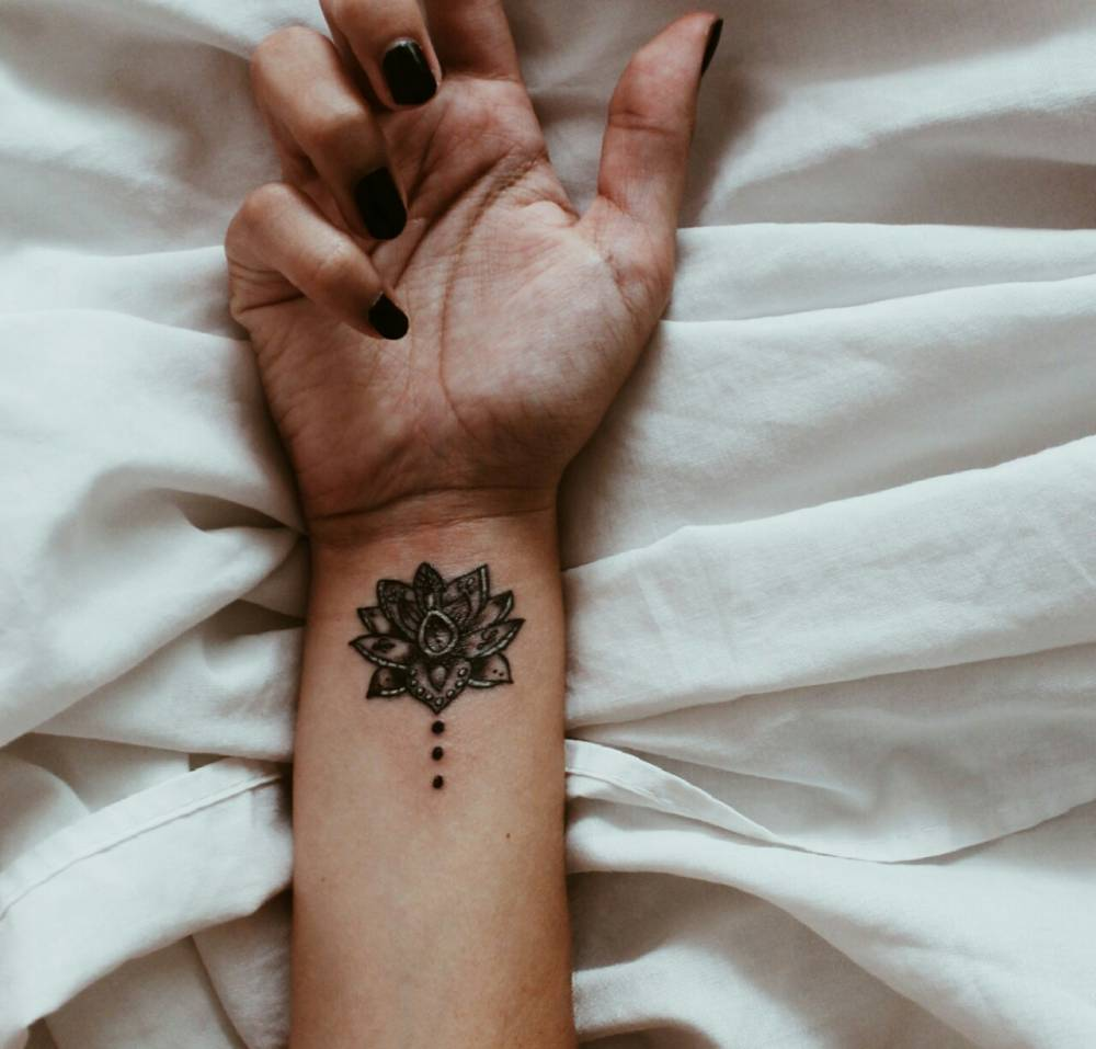 Lotus Flower Tattoo Wrist Designs Ideas And Meaning Tattoos For You