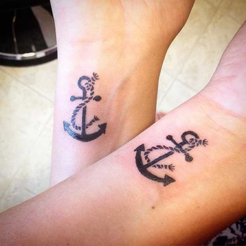 matching anchor tattoos designs ideas and meaning
