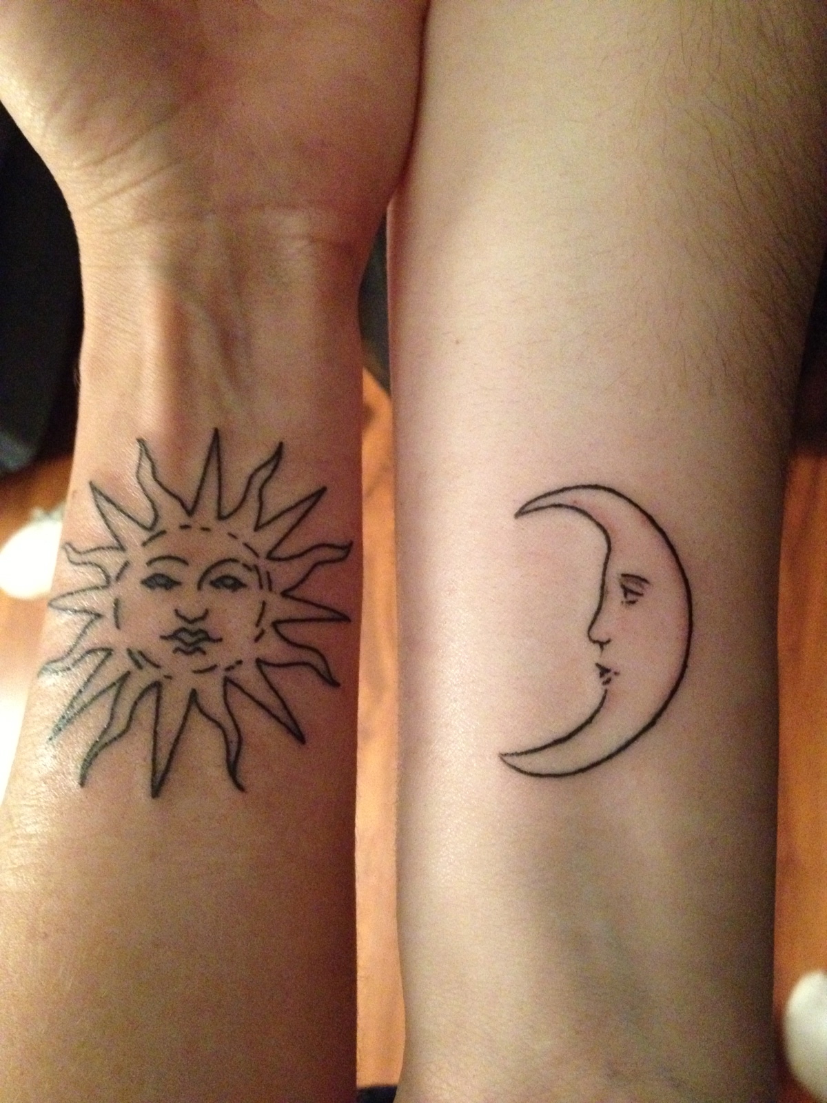 sun and moon matching designs ideas and meaning