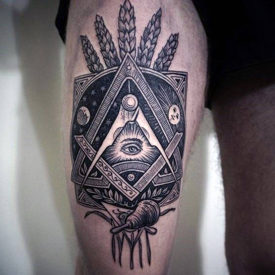 The 74 Best Tattoo Ideas For Men: Men Thigh Tattoo Designs, Ideas And Meaning