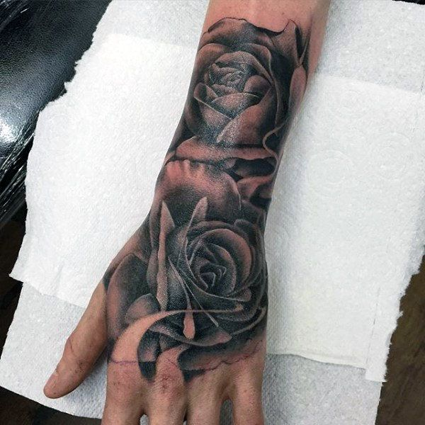 rose tattoo for men designs ideas and meaning tattoos. Black Bedroom Furniture Sets. Home Design Ideas
