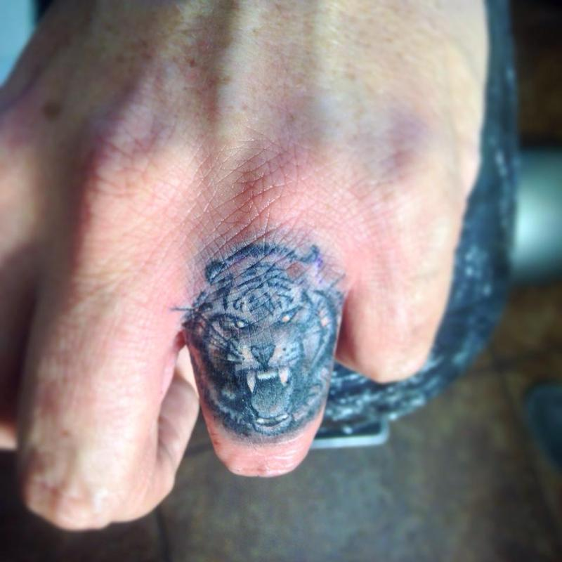 Tiger Finger Tattoo Designs Ideas And Meaning Tattoos For You