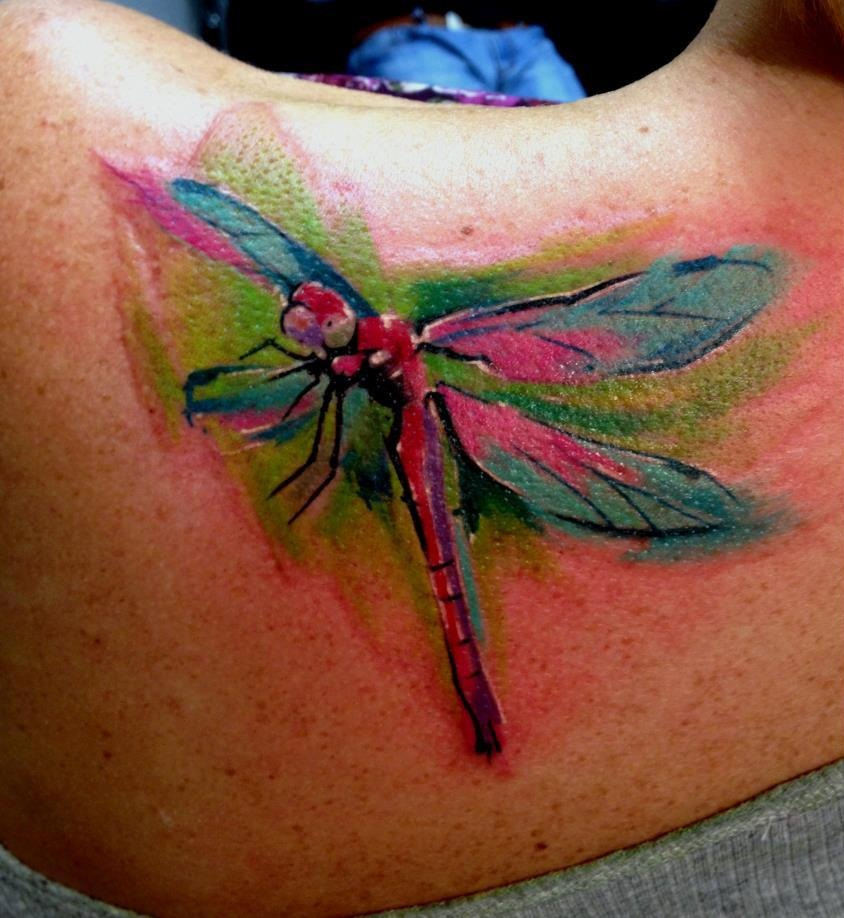 Watercolor Dragonfly Tattoo Designs, Ideas And Meaning