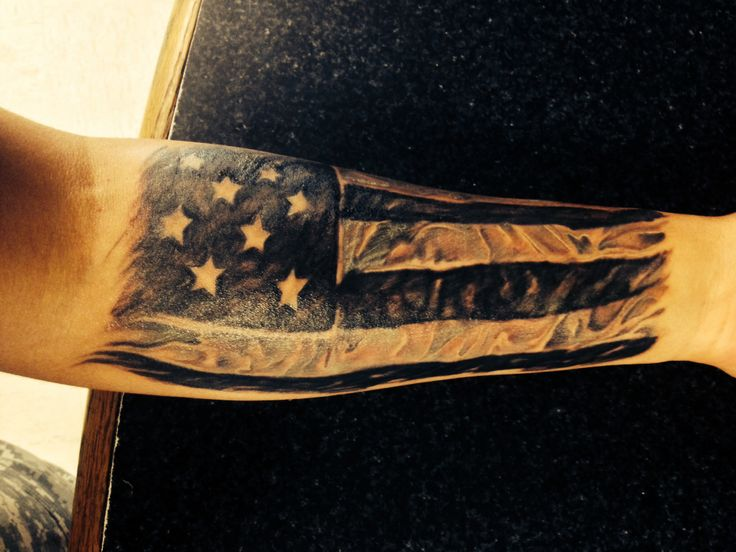 American flag forearm tattoo designs ideas and meaning for American flag tattoos pictures