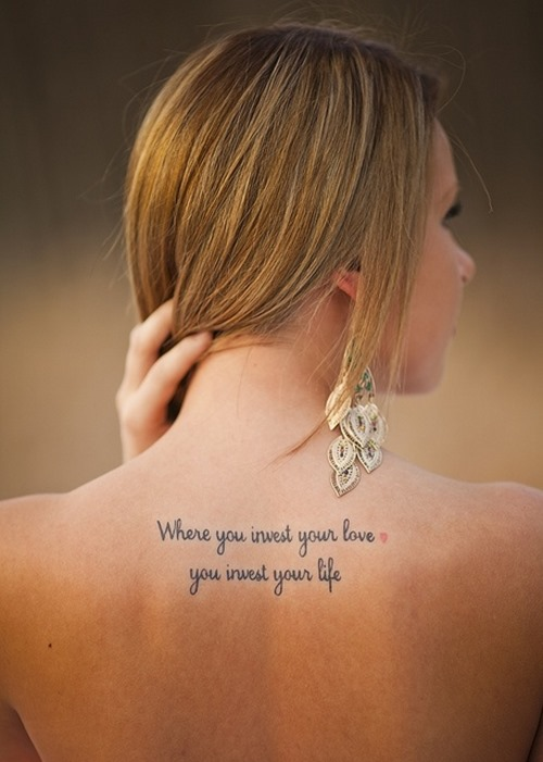 Quote Tattoos For Girls Designs Ideas And Meaning Tattoos For You