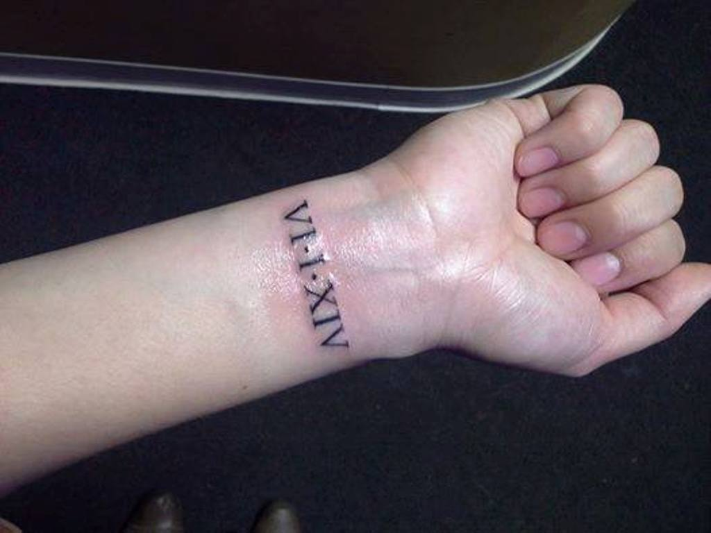 Roman Numerals Tattoo Designs: Roman Numeral Wrist Tattoo Designs, Ideas And Meaning