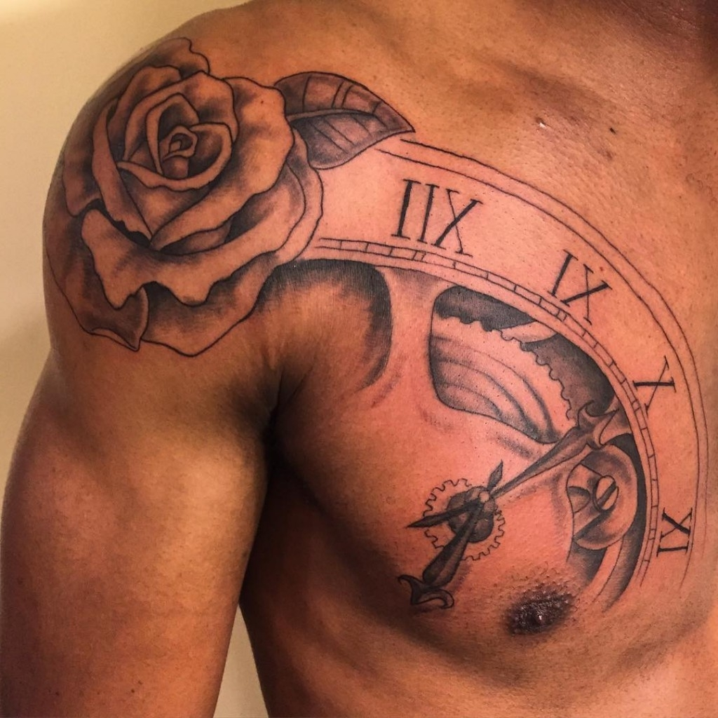 Rose tattoo for men designs ideas and meaning tattoos for Tattoo design in shoulder