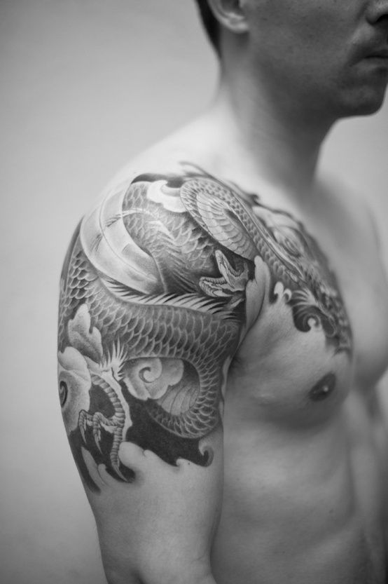 Dragon Shoulder Tattoo Designs Ideas And Meaning Tattoos For You ...