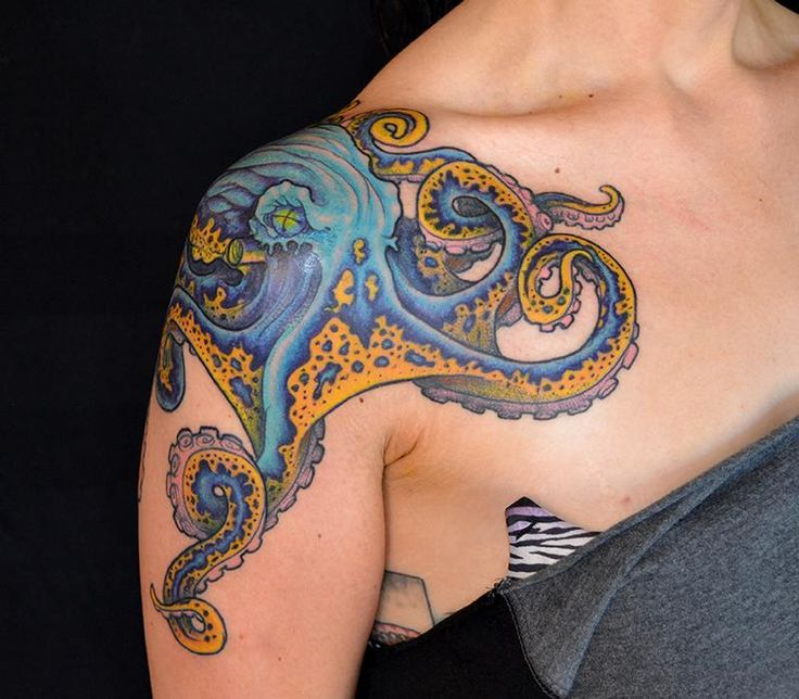 Underarm Tattoos Designs Ideas And Meaning: Octopus Shoulder Tattoo Designs, Ideas And Meaning