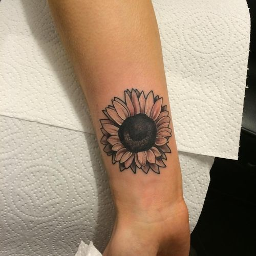 Small Sunflower Tattoo Meaning: Sunflower Wrist Tattoo Designs, Ideas And Meaning