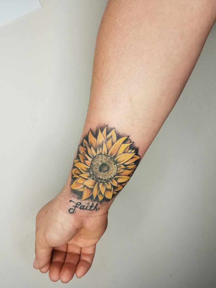 Sunflower Wrist Tattoo Designs, Ideas And Meaning