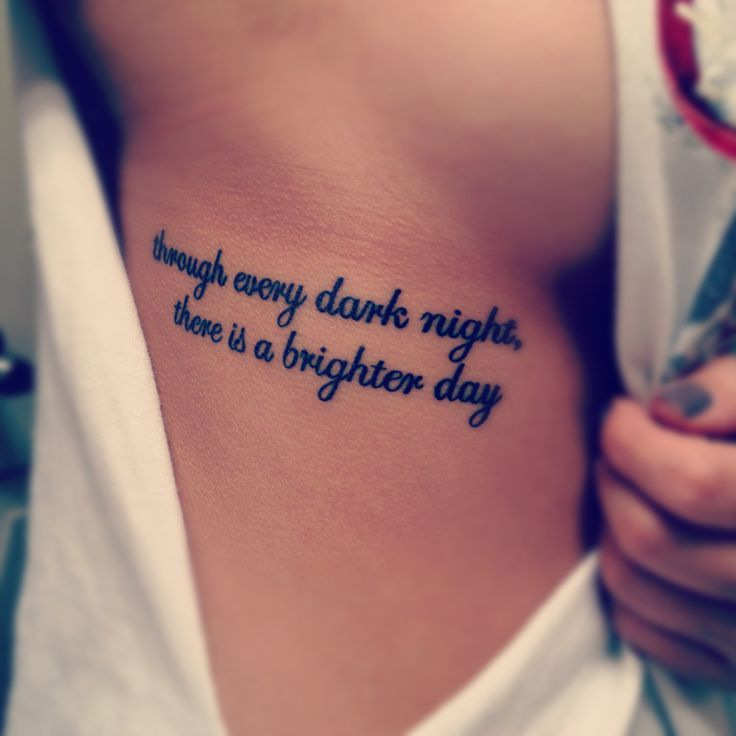 Quote Tattoos for Girls Designs, Ideas and Meaning | Tattoos ...