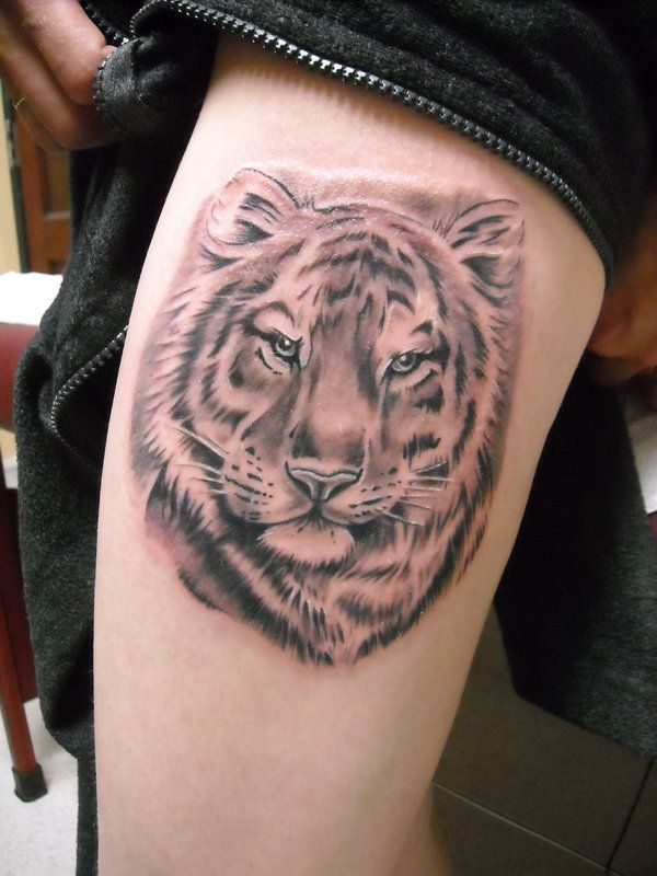 Tiger Thigh Tattoos Designs Ideas And Meaning Tattoos