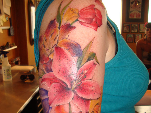 Watercolor Lily Tattoo Designs, Ideas and Meaning