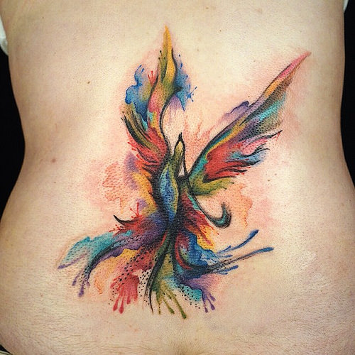 watercolor phoenix tattoo designs ideas and meaning tattoos for you. Black Bedroom Furniture Sets. Home Design Ideas