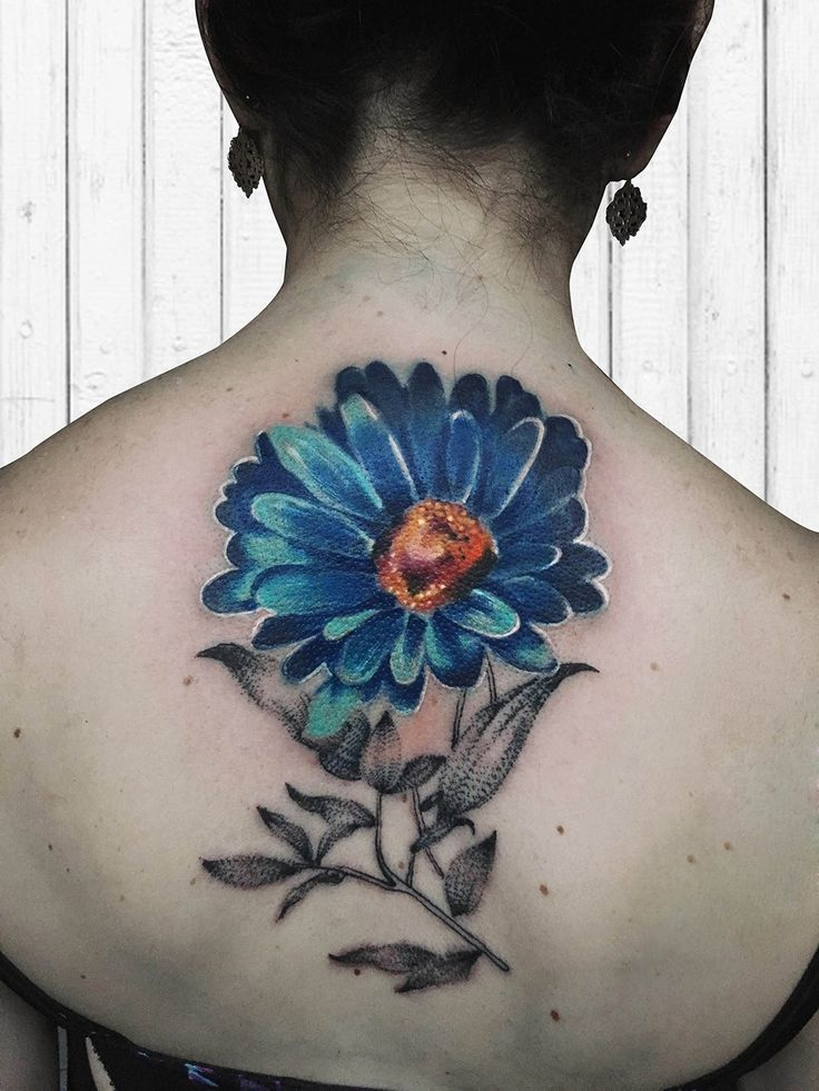 Watercolor Daisy Tattoo Designs, Ideas And Meaning