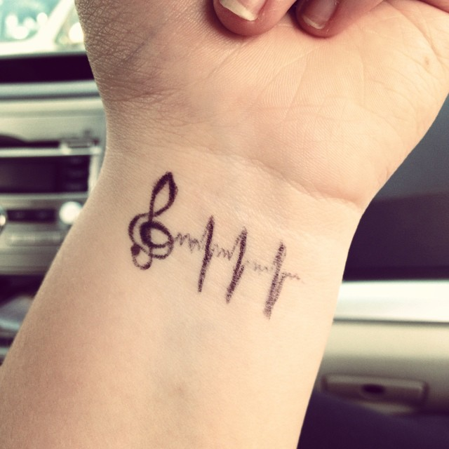 Music Wrist Tattoos Designs, Ideas And Meaning