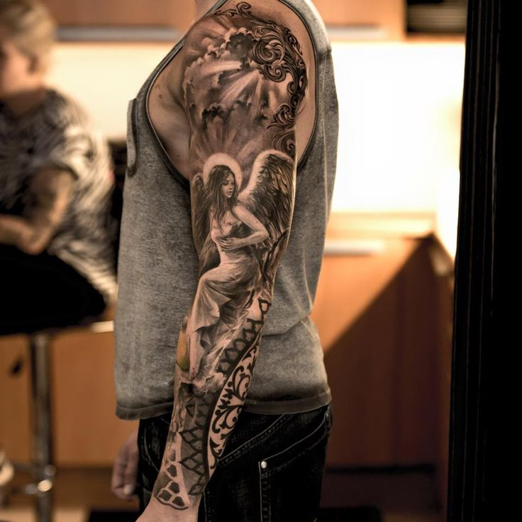 Angel Sleeve Tattoo Designs Ideas And Meaning Tattoos For You