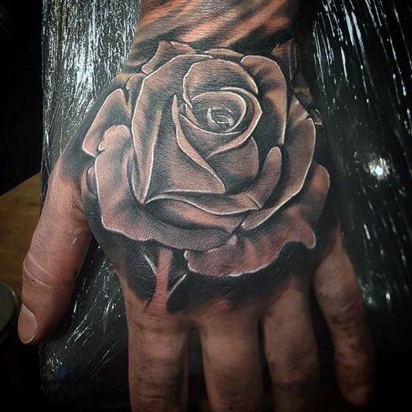 Rose Sleeve Tattoo Designs For Men