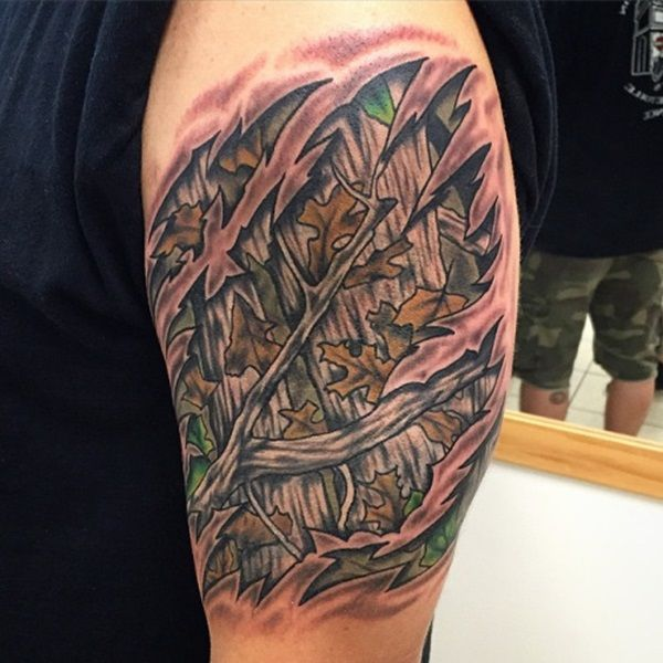 Camo tattoo designs ideas and meaning tattoos for you for Camo sleeve tattoo