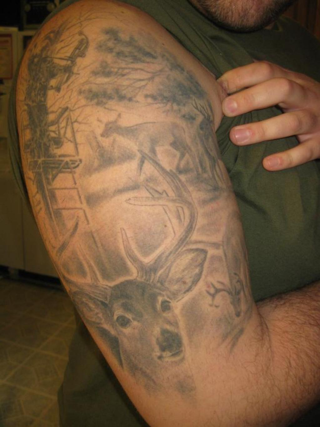 cb43f60cb Hunting Sleeve Tattoo Designs, Ideas and Meaning   Tattoos For You