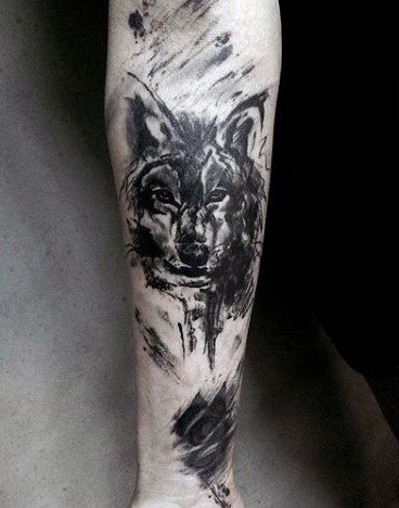 wolf forearm tattoo designs ideas and meaning tattoos