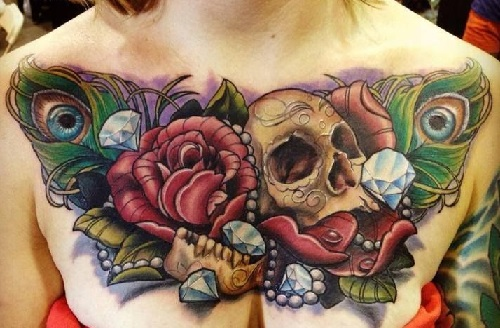Chest Tattoos For Women Designs, Ideas And Meaning
