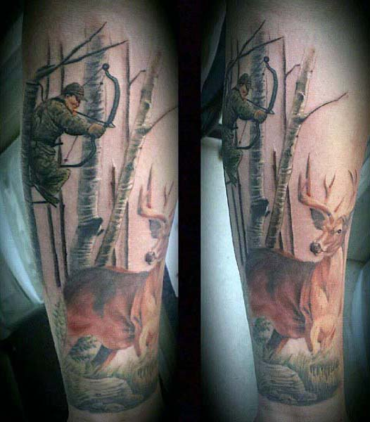Hunting Sleeve Tattoo Designs Ideas And Meaning Tattoos For You