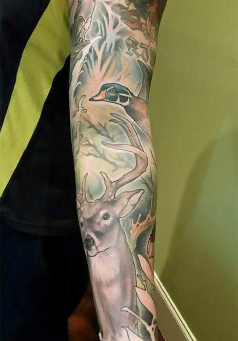 Hunting Sleeve Tattoo Designs, Ideas and Meaning | Tattoos For You