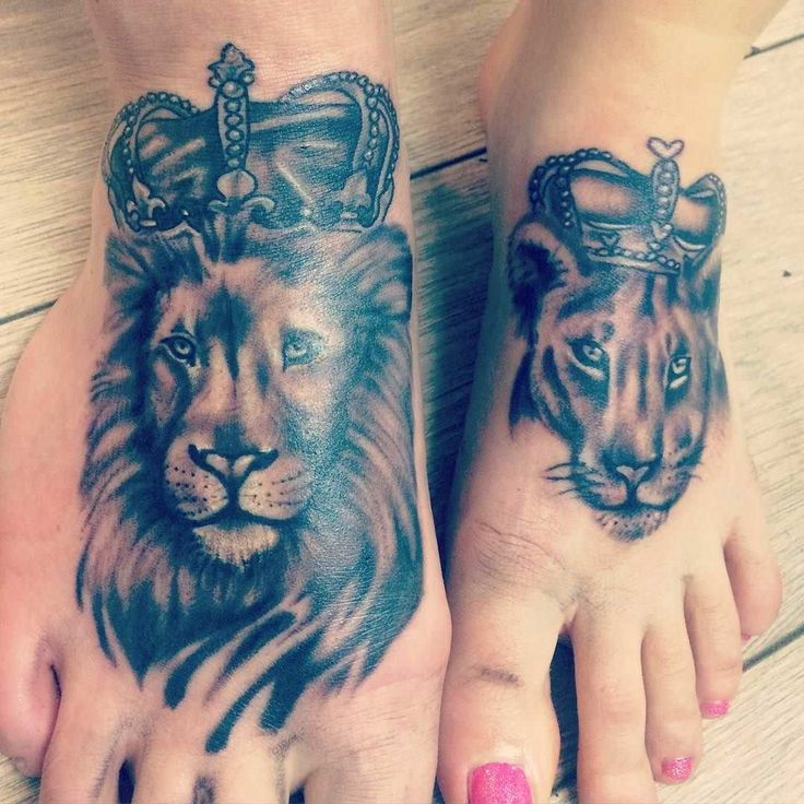 Lion And Lioness Ring Tattoo
