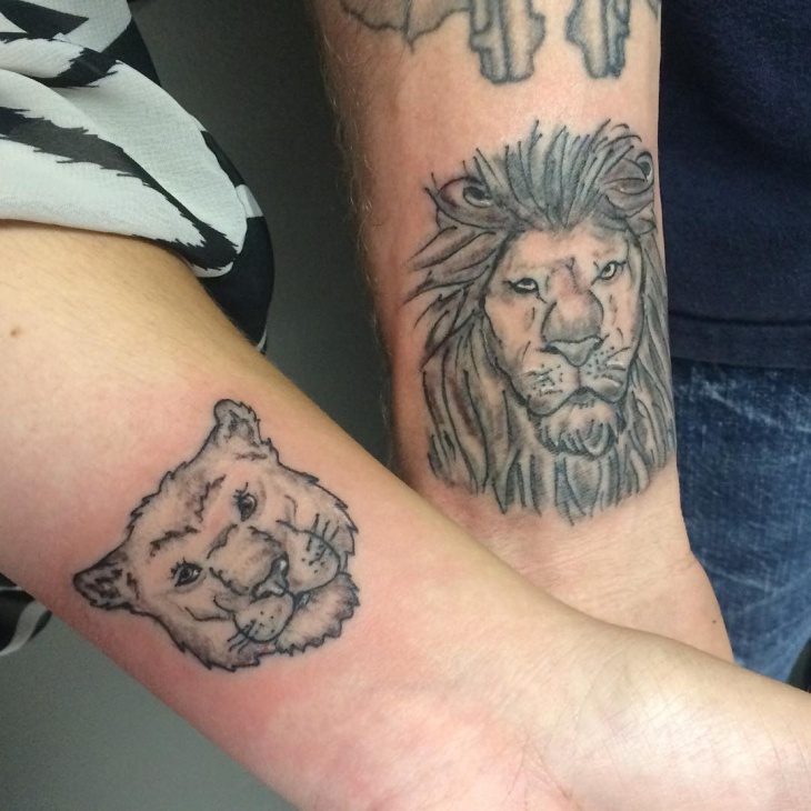 Matching Lion Tattoos Designs Ideas And Meaning Tattoos