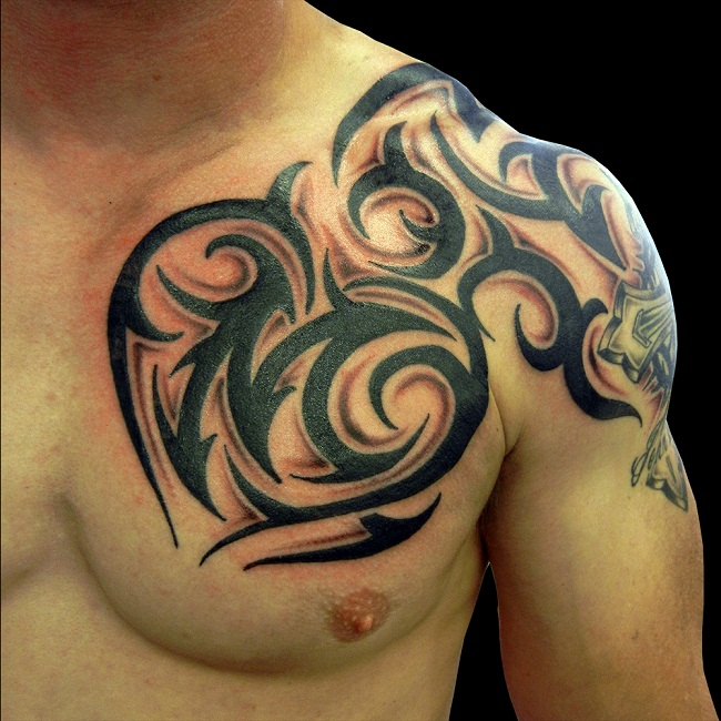 Chest Shoulder Tattoo Designs, Ideas And Meaning