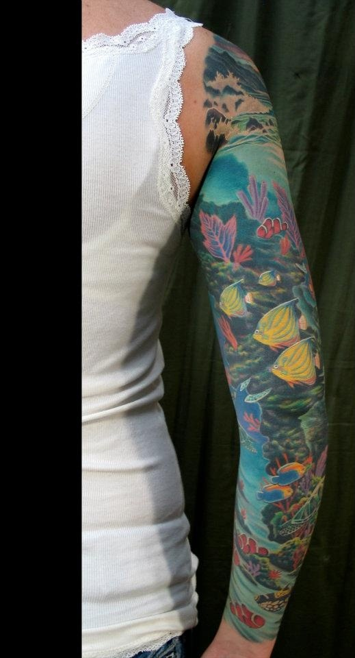 ocean tattoos designs  ideas and meaning